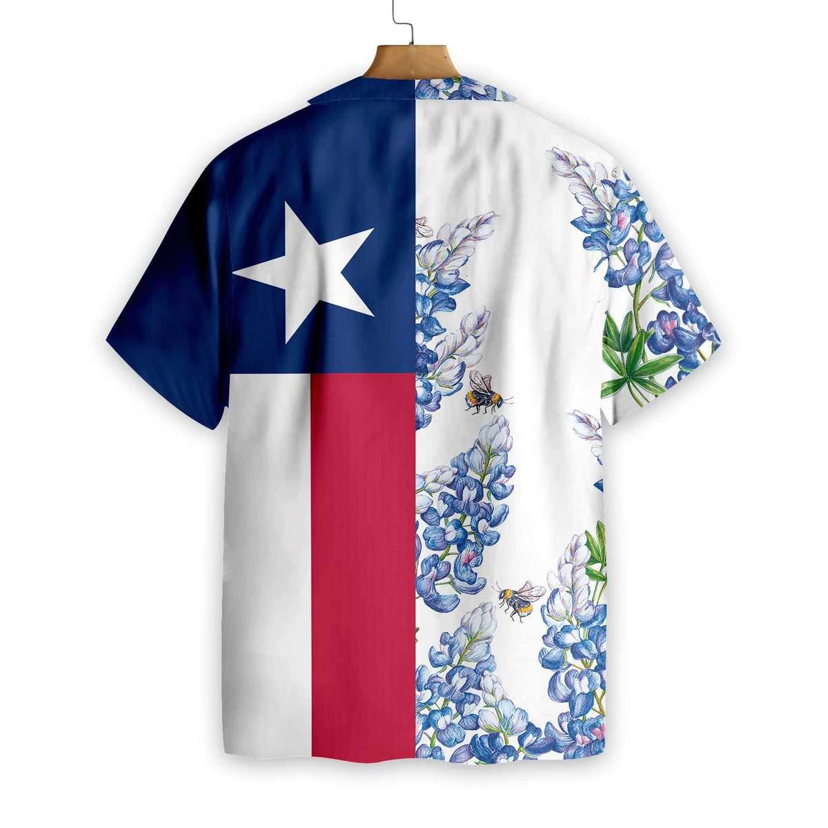 Texas Flag Bluebonnets Ver3 Hawaiian Shirt1