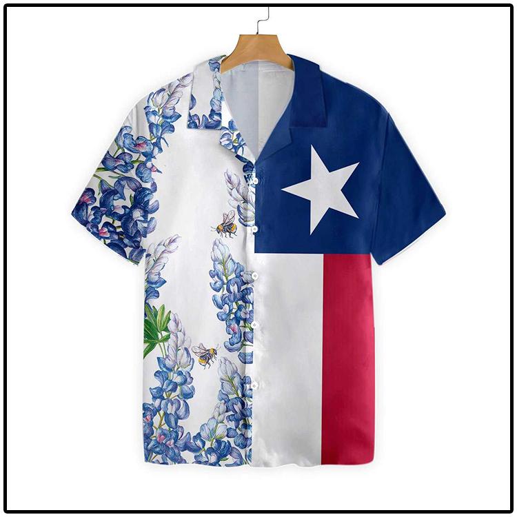 Texas Flag Bluebonnets Ver3 Hawaiian Shirt4