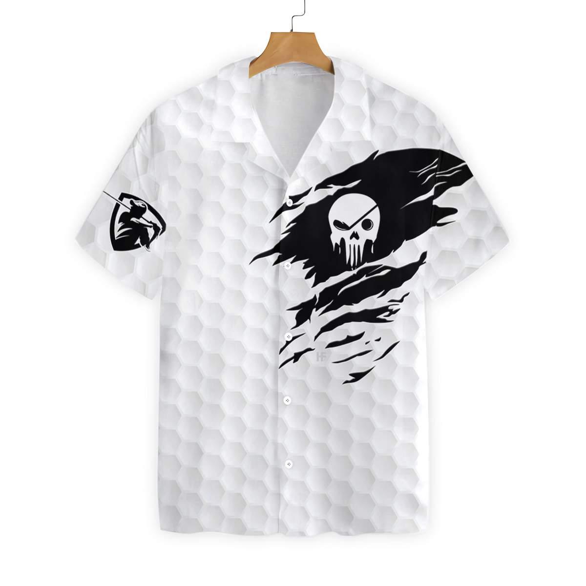The Golf Skull Hawaiian Shirt