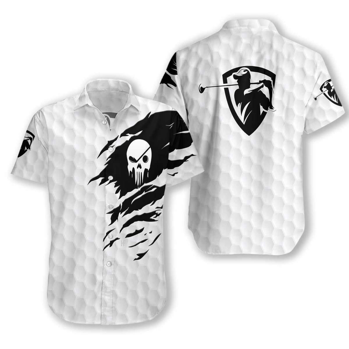 The Golf Skull Hawaiian Shirt2