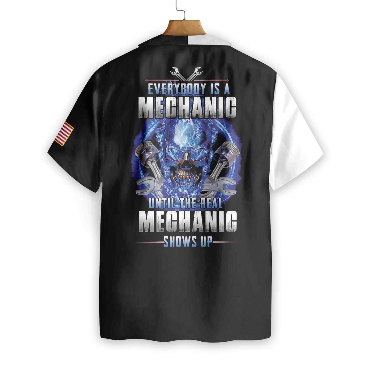 The Real Mechanic Shows Up Hawaiian Shirt1