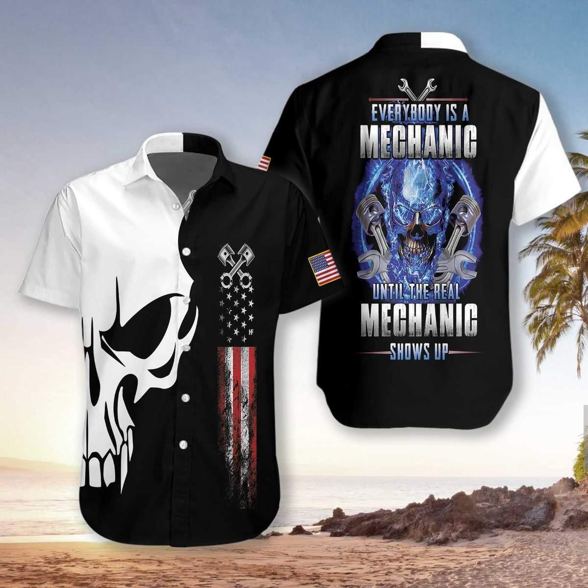 The Real Mechanic Shows Up Hawaiian Shirt2