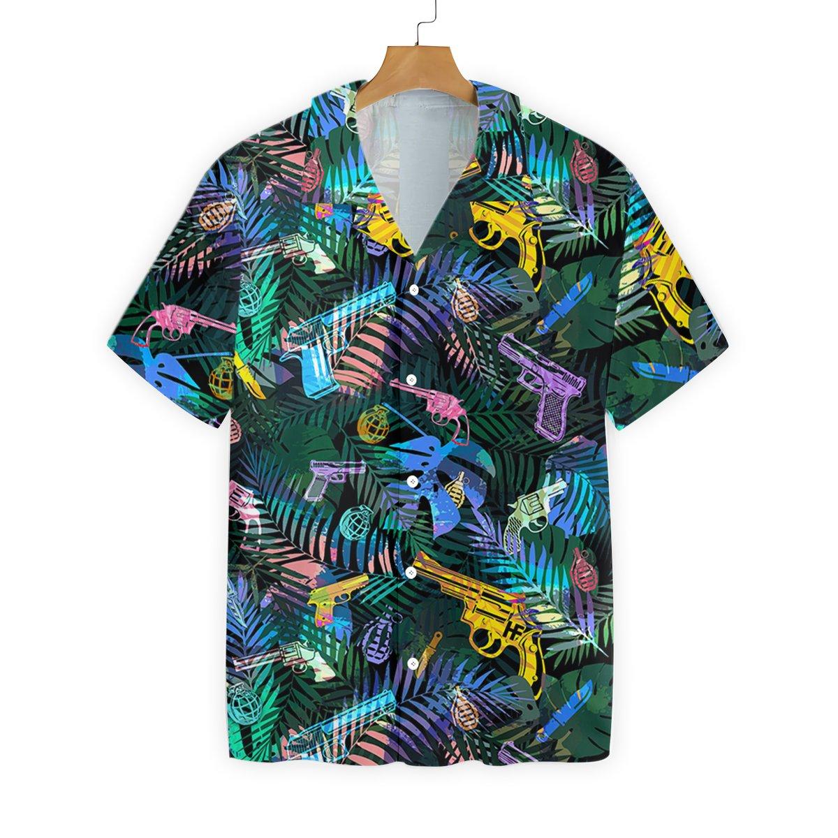 Tropical Gun Hawaiian Shirt
