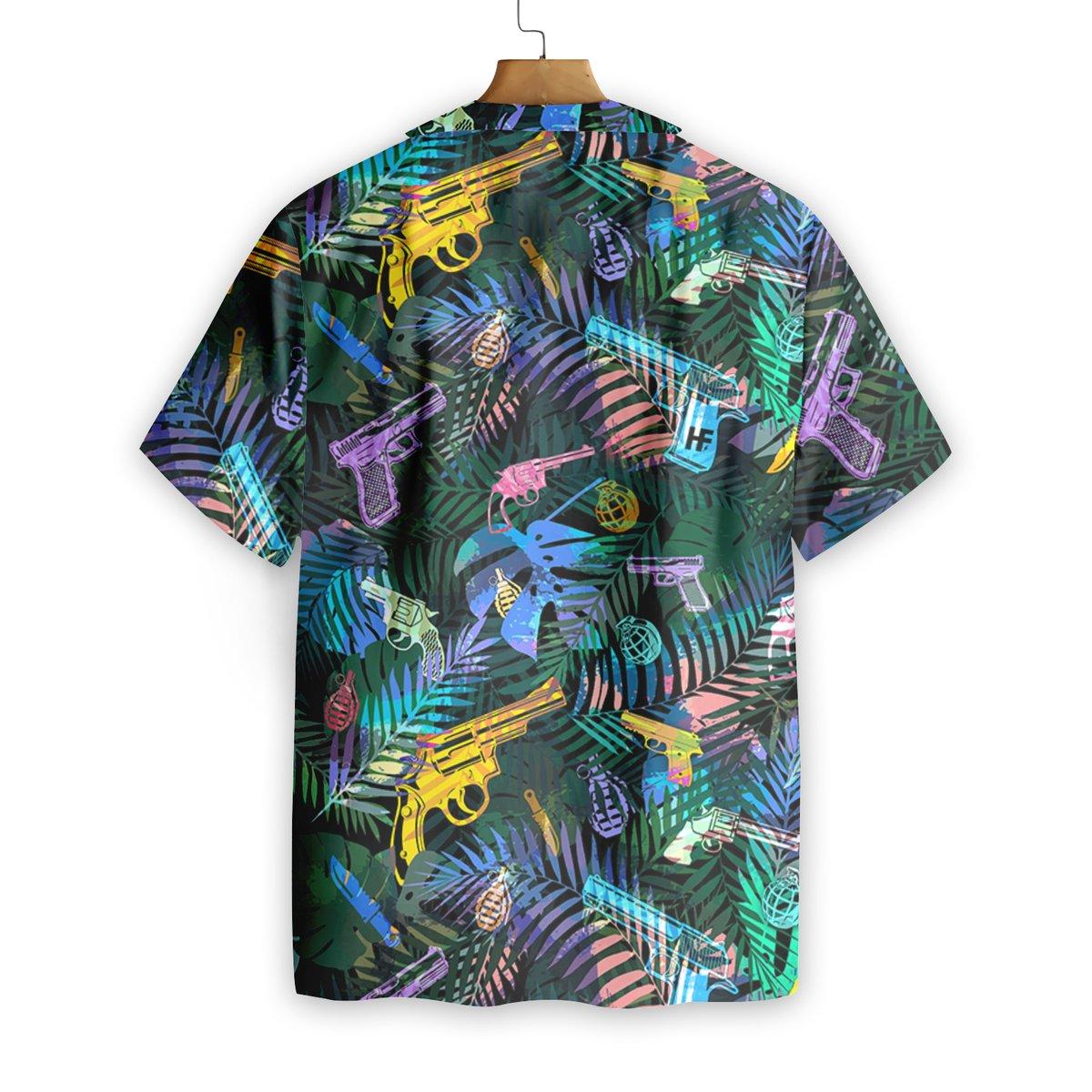 Tropical Gun Hawaiian Shirt1
