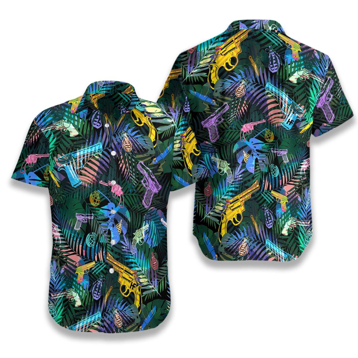 Tropical Gun Hawaiian Shirt2