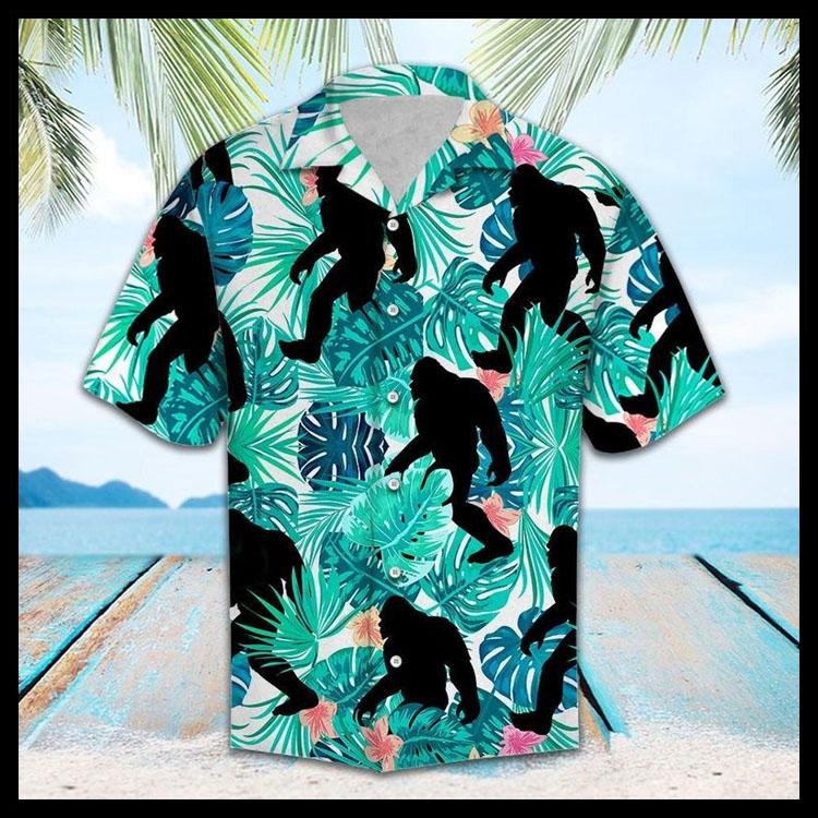 Tropical bigfoot hawaiian shirt2