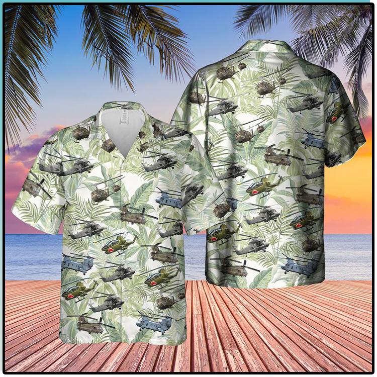 Vietnam Era Helicopters Hawaiian Shirt 1