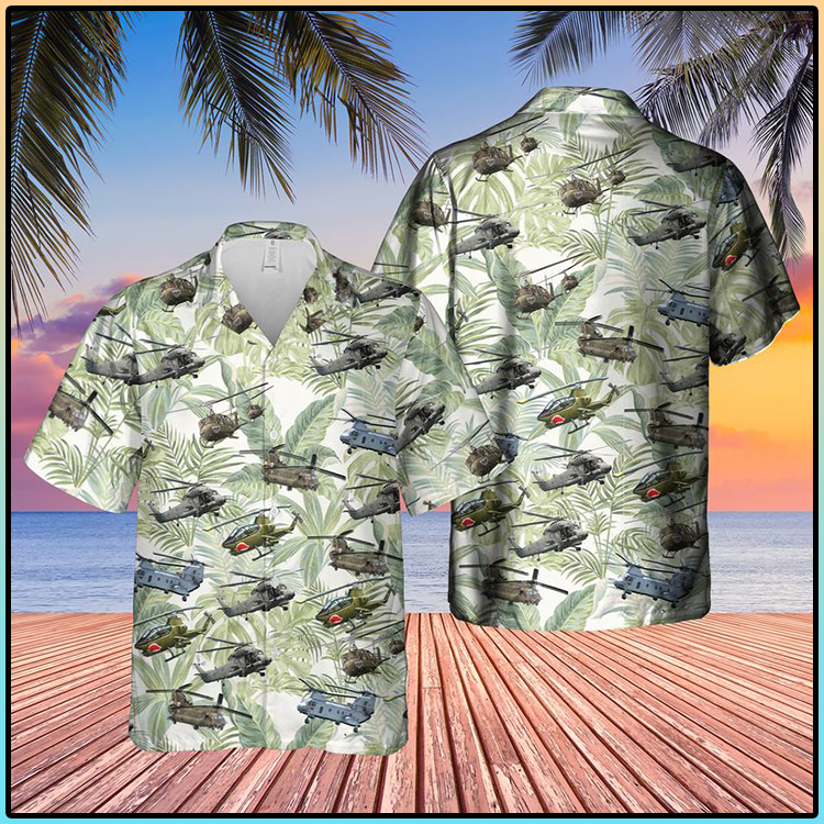 Vietnam Era Helicopters Hawaiian Shirt1