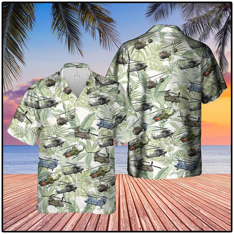 Vietnam Era Helicopters Hawaiian Shirt2