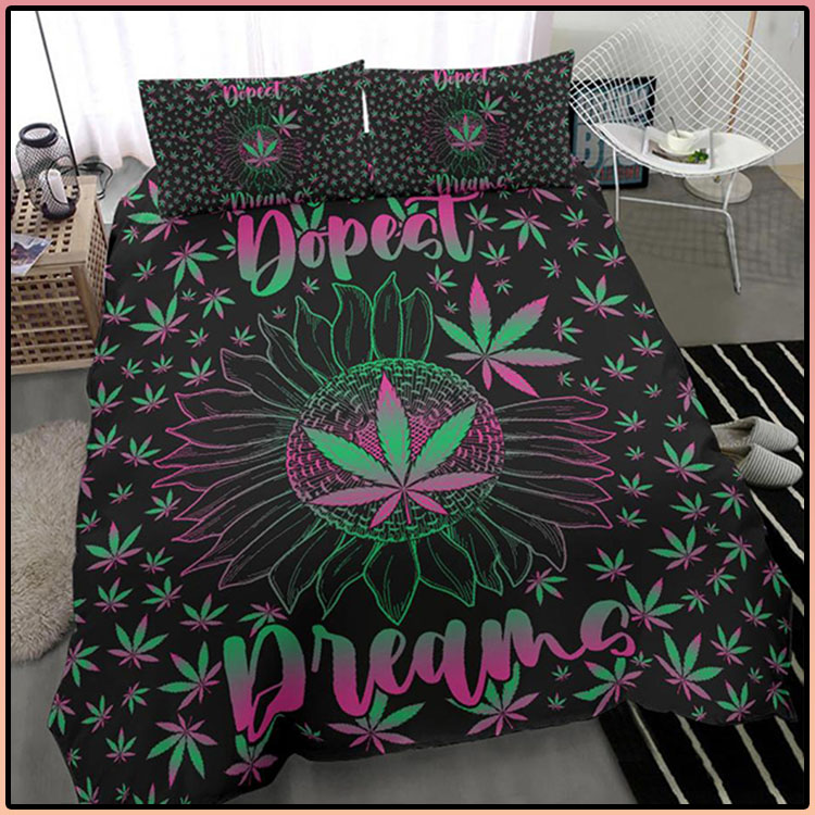 Weed Dopest Dreams Bed Set