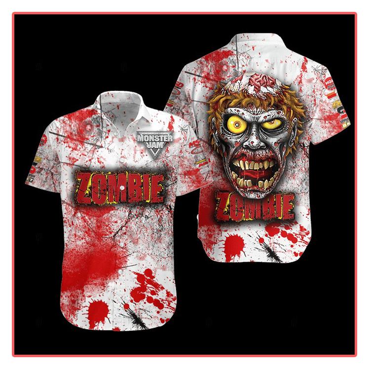Zombie Monster Truck Hawaiian Shirt1 1