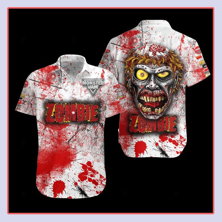 Zombie Monster Truck Hawaiian Shirt4 1