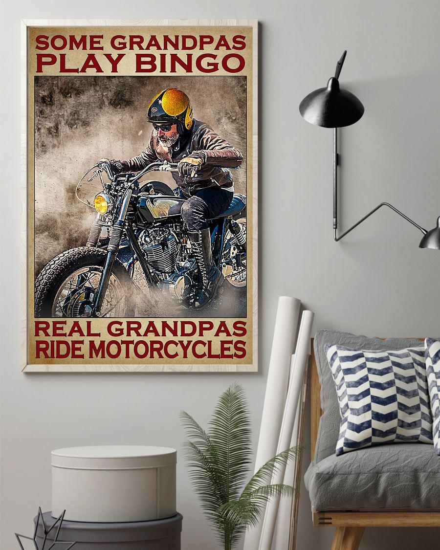 Some grandpas play bingo real grandpas ride motorcycles Vertical Poster