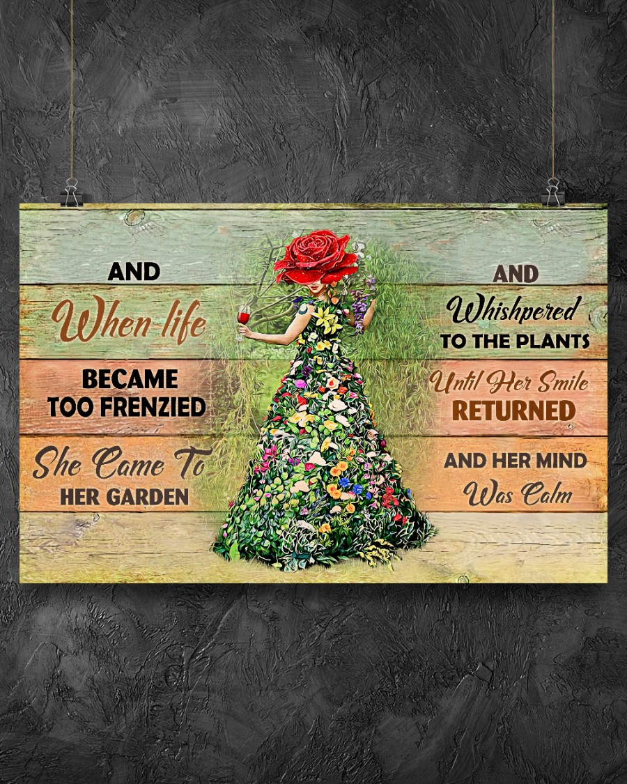 13 And when life became too frenzied she came to her garden Horizontal Poster 2
