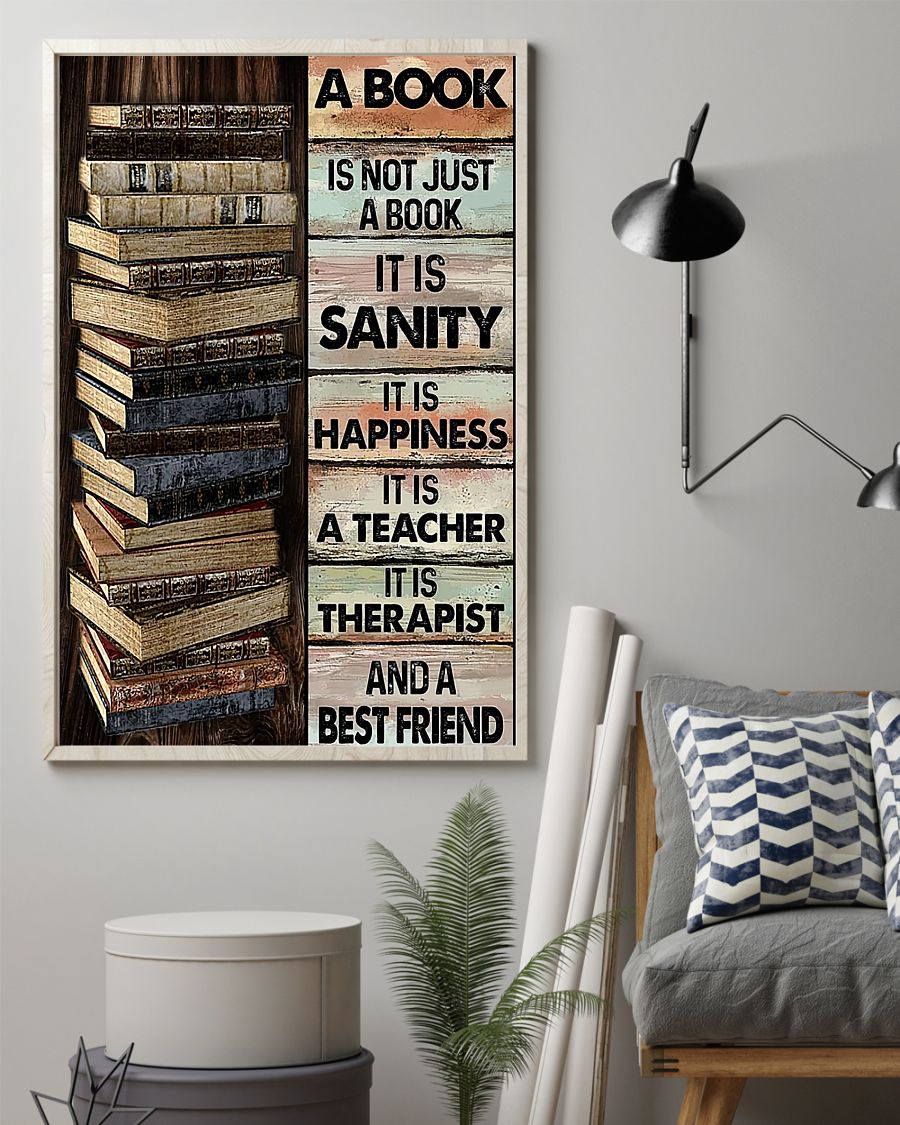 14 A book is not just a book it is sanity it is happiness it is teacher Vertical Poster 2