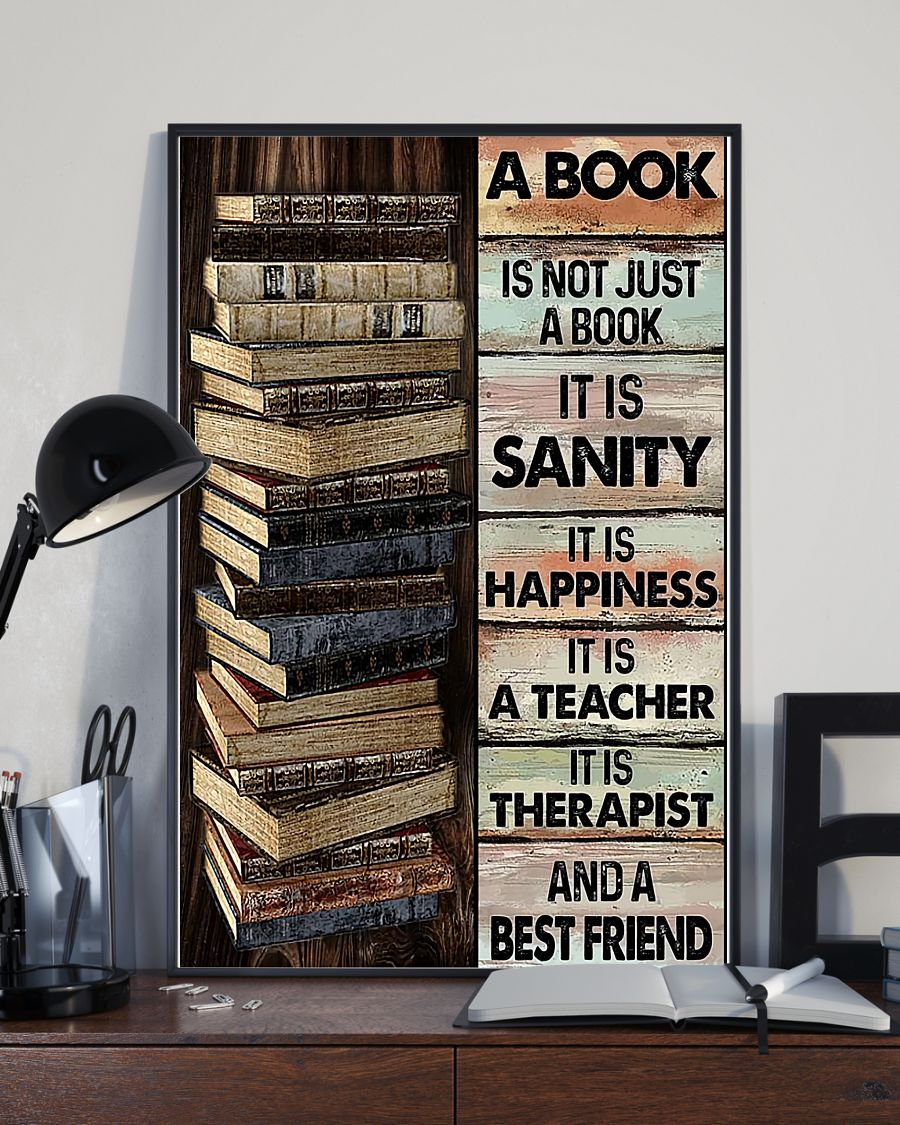 14 A book is not just a book it is sanity it is happiness it is teacher Vertical Poster 3