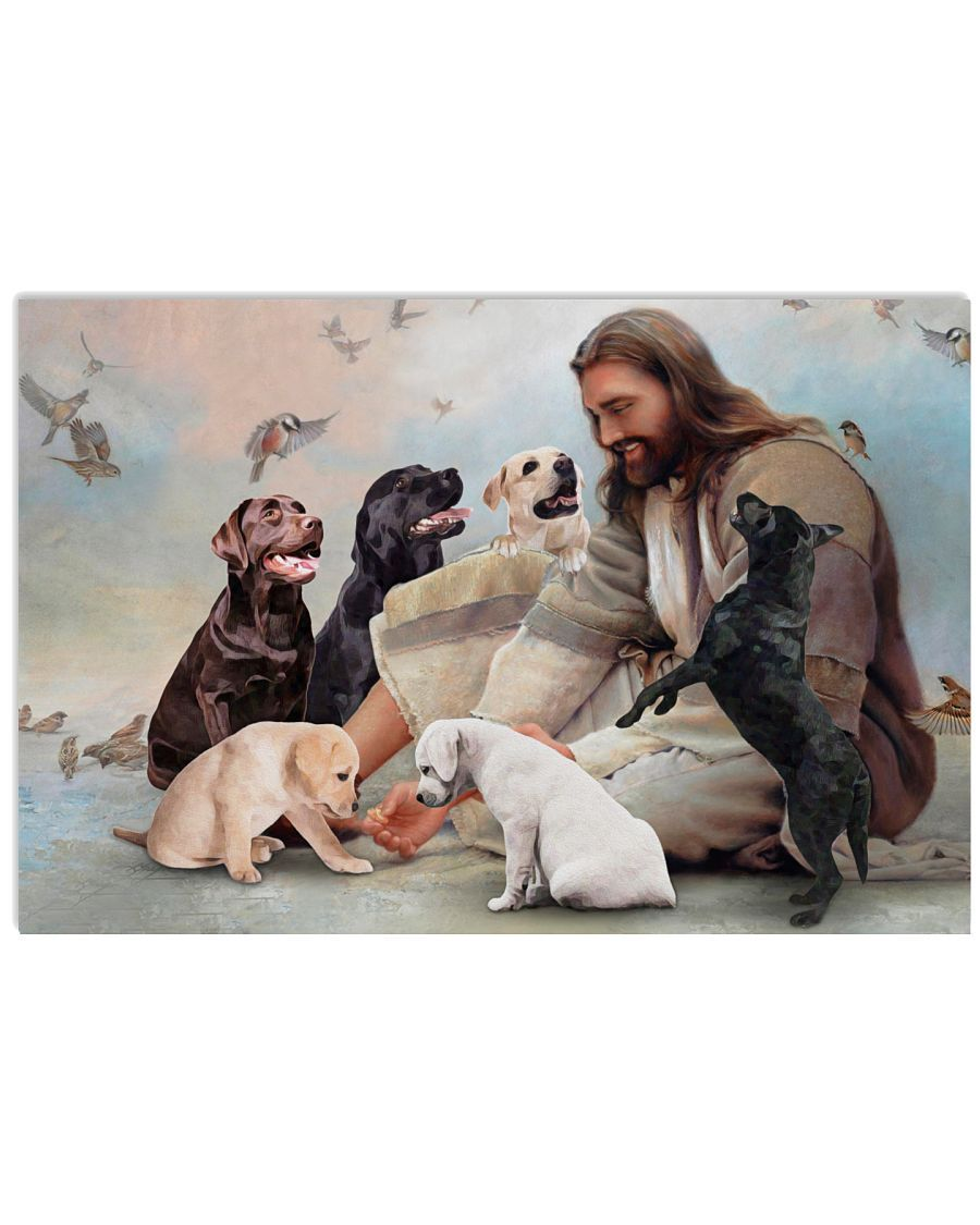 17 God surrounded by Labrador angels Poster 1