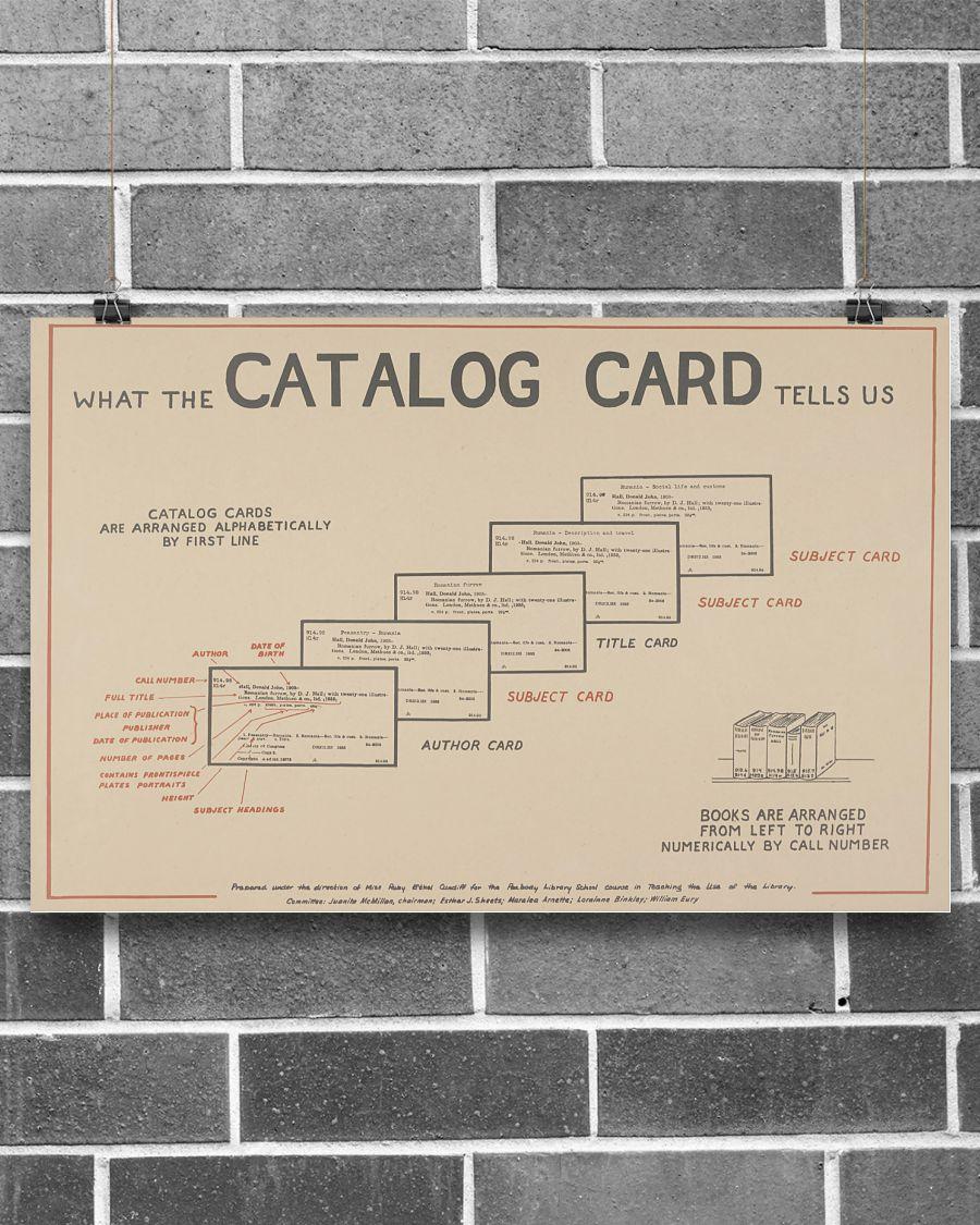 5 Librarian Catalog Card Horizontal Poster 2