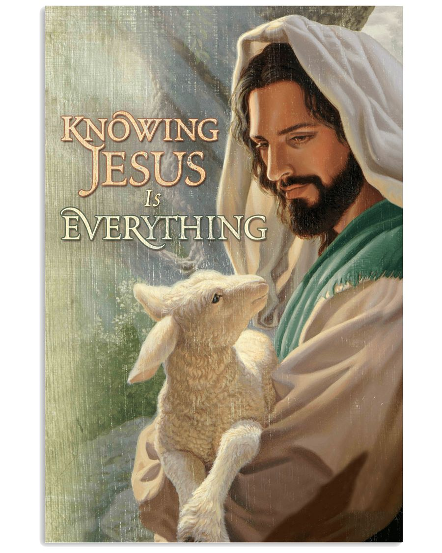 9 Goat Knowing Jesus is everything Gift for you Vertical Poster 1