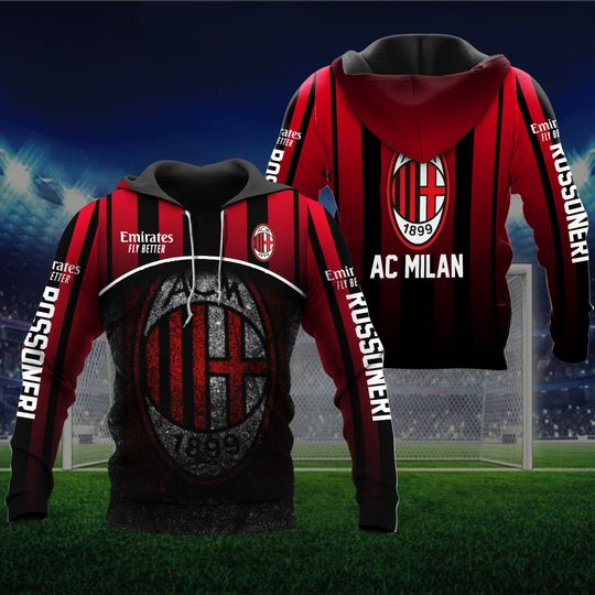 AC Milan 1899 Emirates Fly Better 3d Hoodie