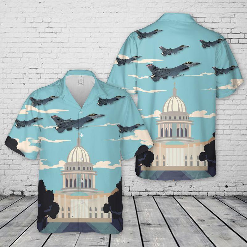 Air Force Wisconsin Air National Guard 115th Hawaiian Shirt