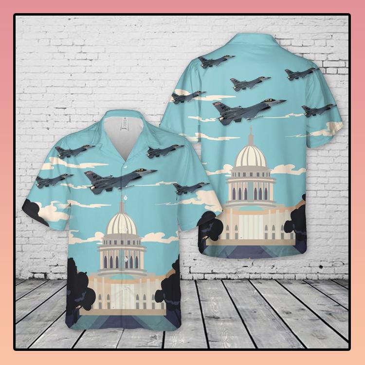 Air Force Wisconsin Air National Guard 115th Hawaiian Shirt3