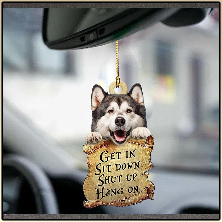 Alaskan Malamute get in sit down shut up hang on ornament2