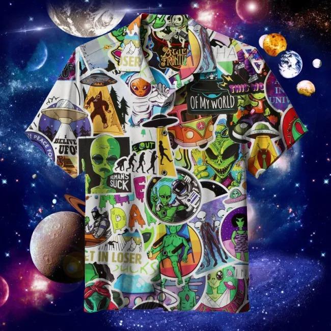 Alien Hawaiian Shirt