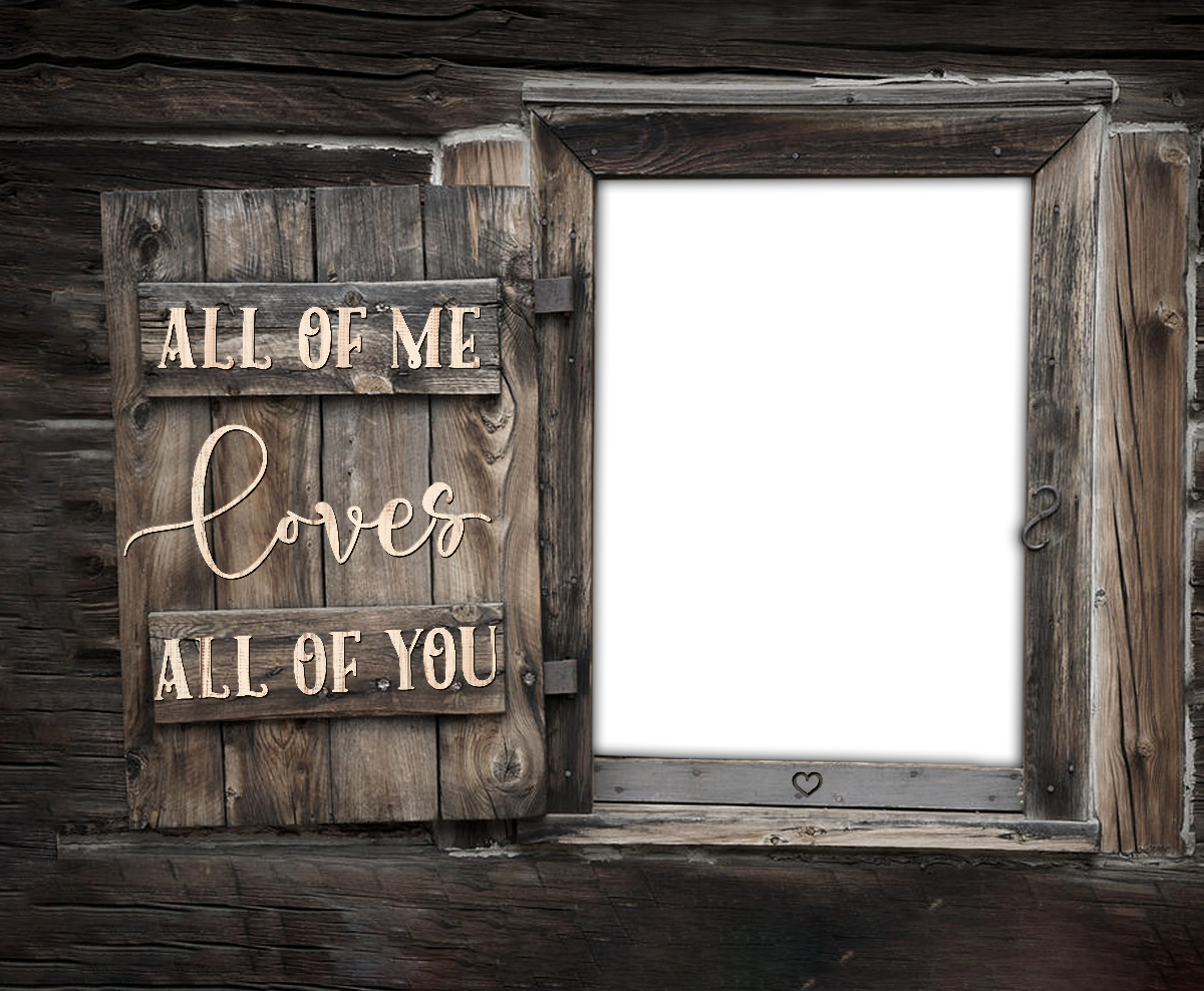 All Of Me Loves All Of You Custom personalized name Canvas