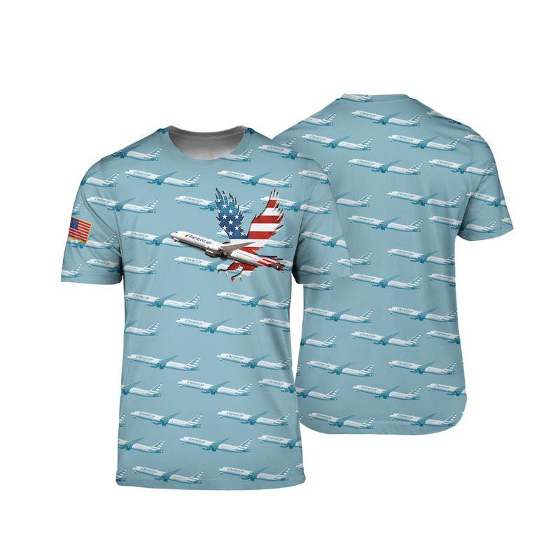 American Airlines Boeing 787 9 Dreamliner 3D shirt