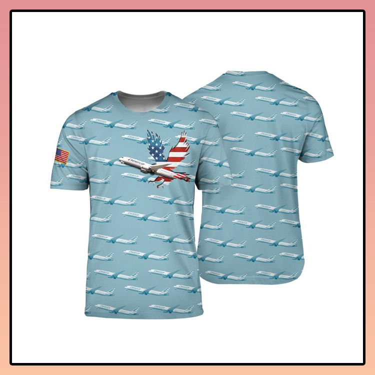 American Airlines Boeing 787 9 Dreamliner 3D shirt3