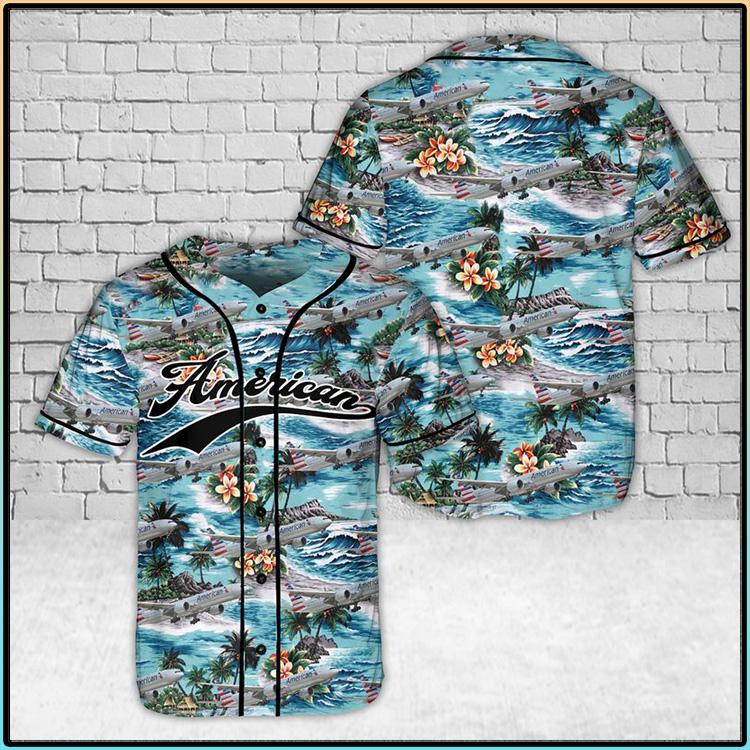 American Airlines Hawaiian Baseball Jersey Shirt3 1