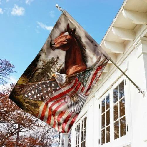 American Eagle Horse flag 1