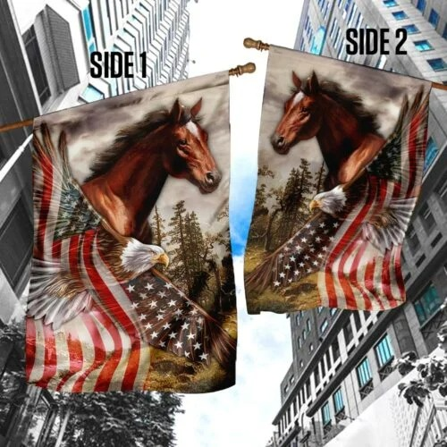 American Eagle Horse flag 2