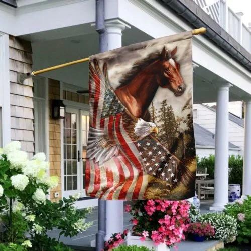 American Eagle Horse flag