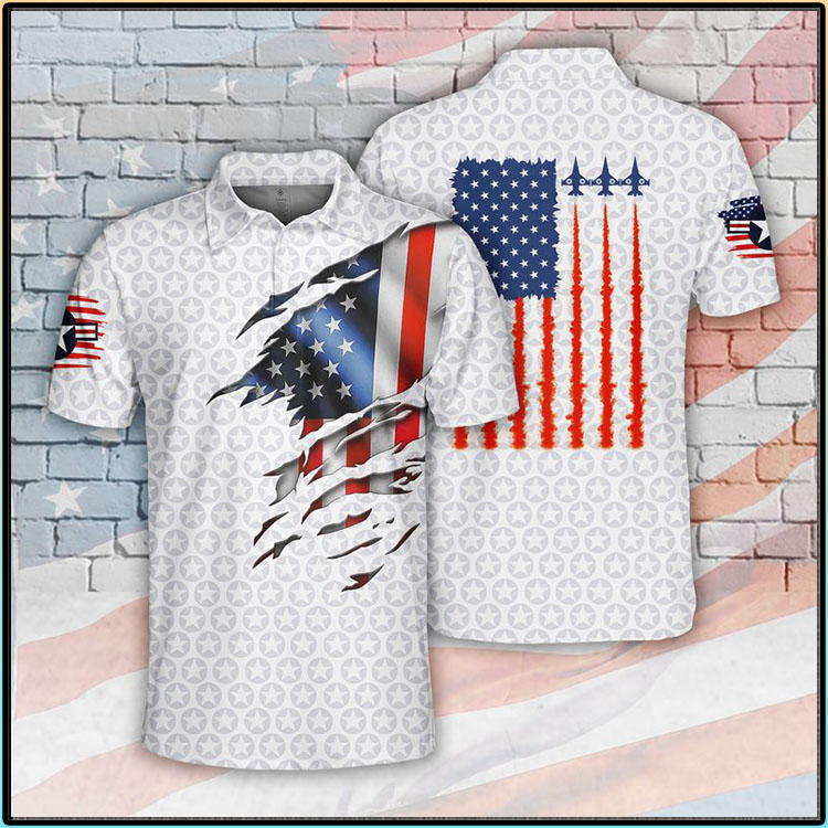 American Flag Air Force Polo Shirt34 1