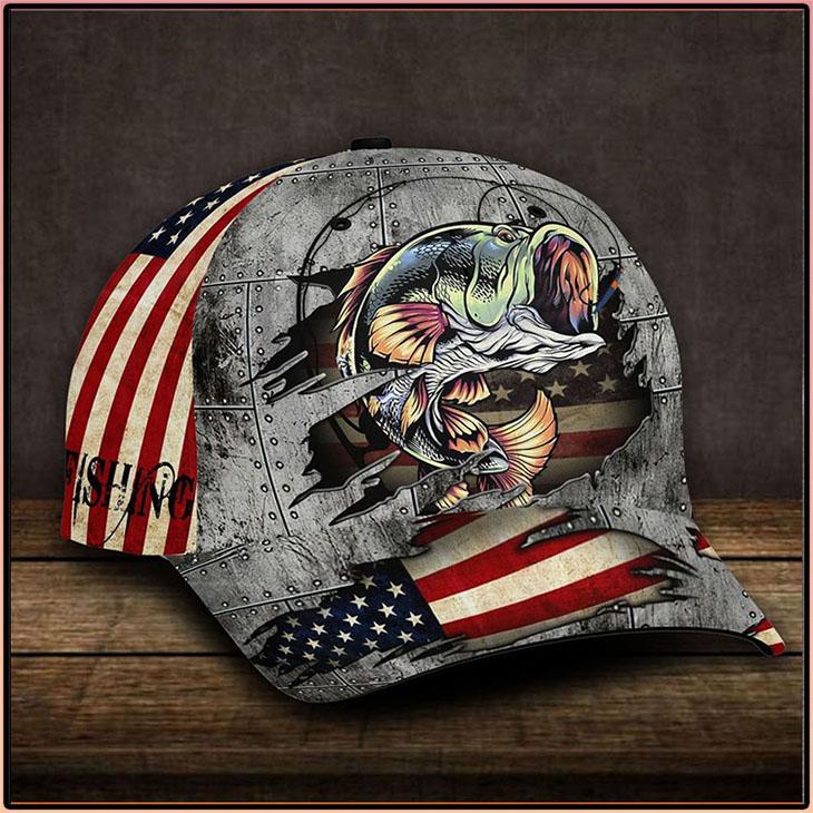 American Flag Bass Fishing Cap1