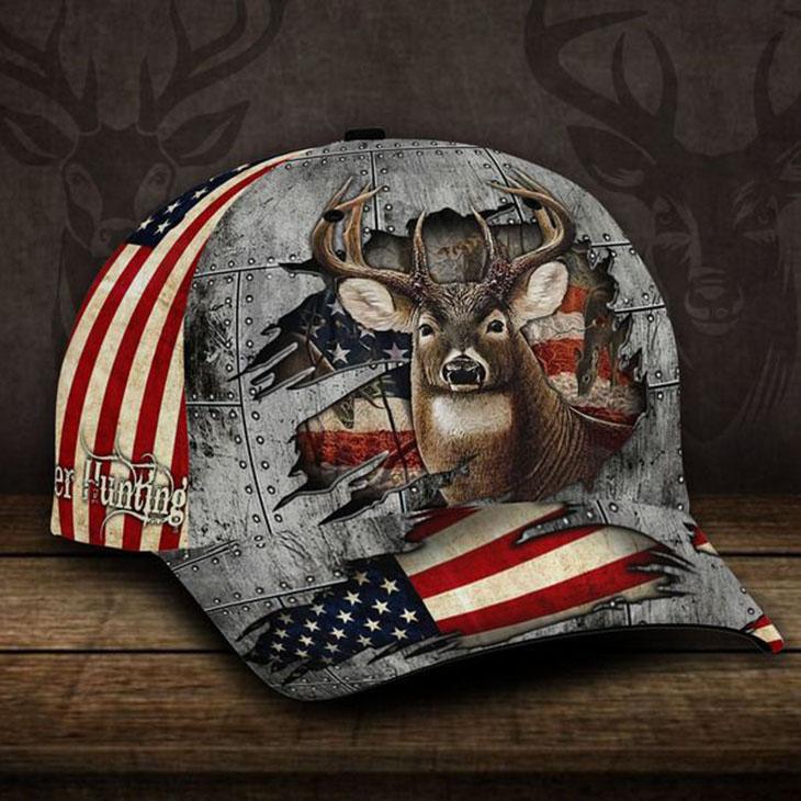 American Flag Deer Hunting Cap