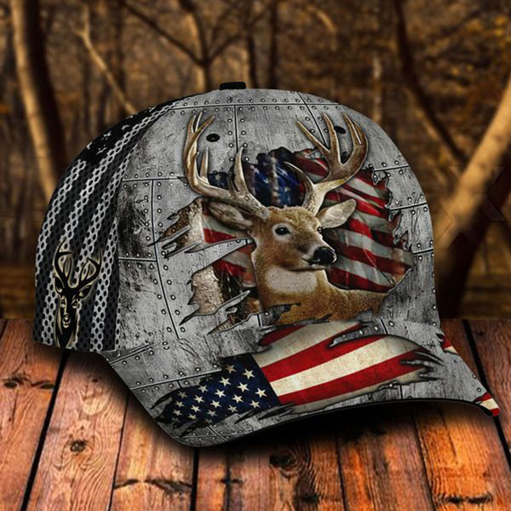 American Flag Deer Hunting Cap1