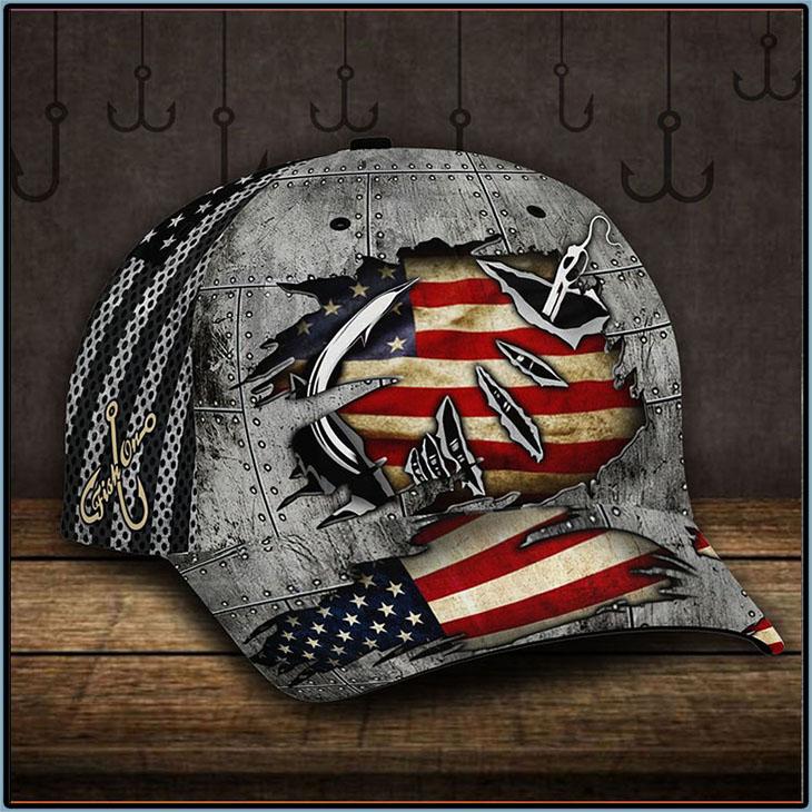 American Flag Fishing Hook Cap1