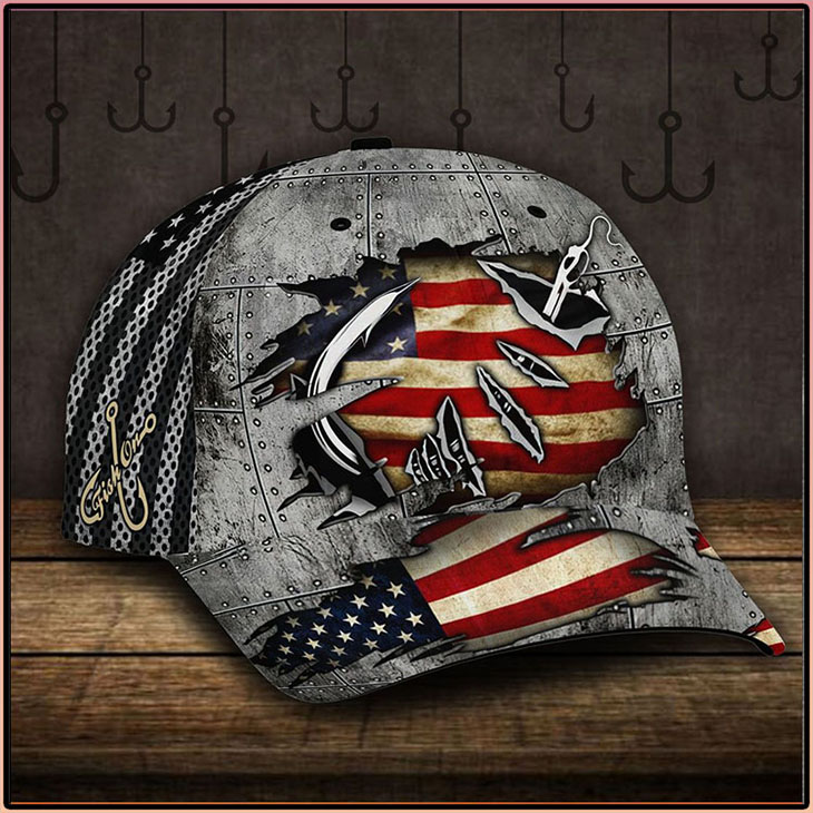 American Flag Fishing Hook Cap2