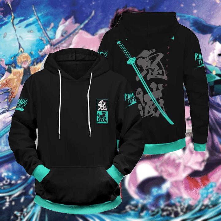 Anime Demon Slayer 3d over print hoodie shirt