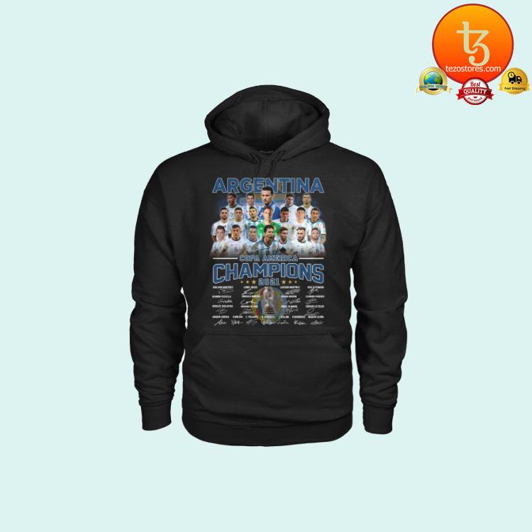 Argentia Copa America Champion 2021 signatures shirt hoodie2