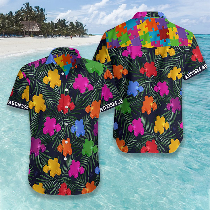 Autism Tropical Hawaiian Shirt2 1