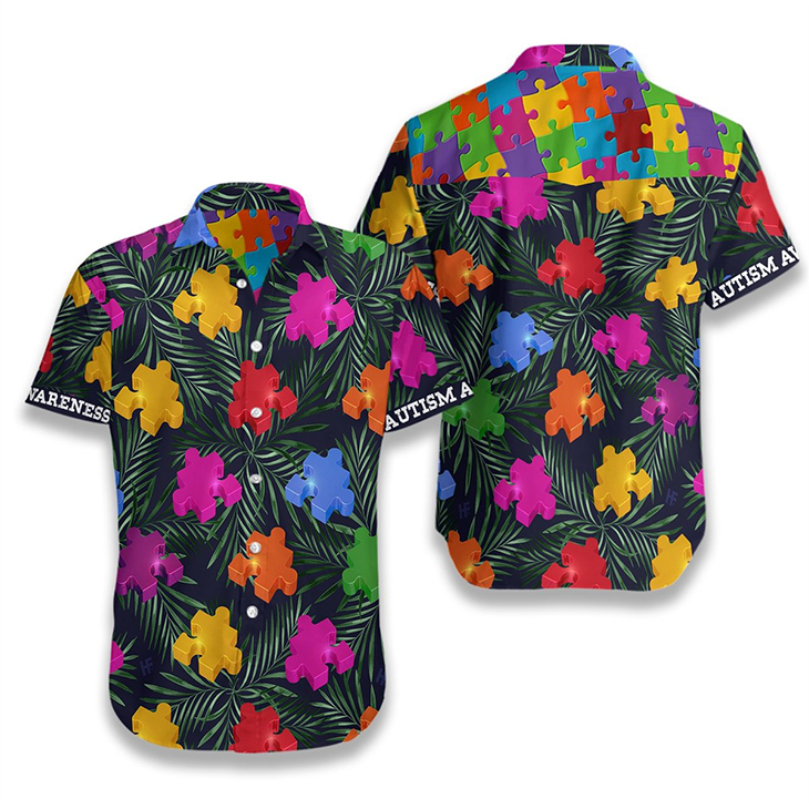 Autism Tropical Hawaiian Shirt3