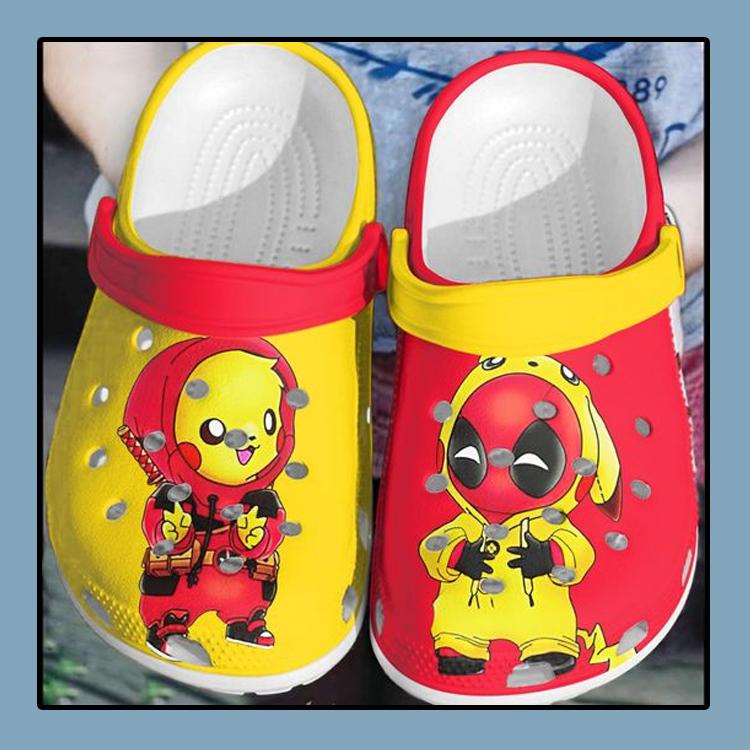Baby Deadpool and Pikachu crocs clog crocband4