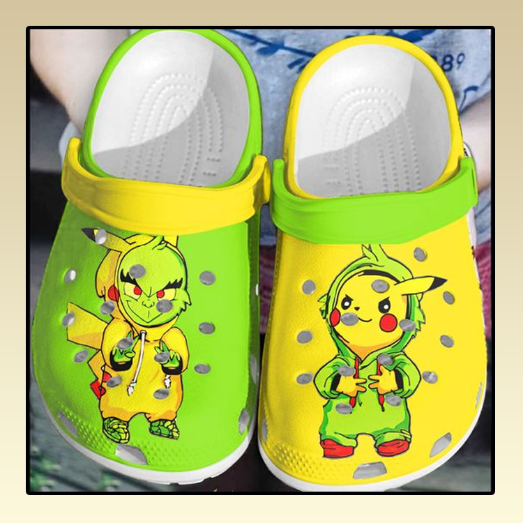 Baby Grinch and Pikachu crocs clog crocband2