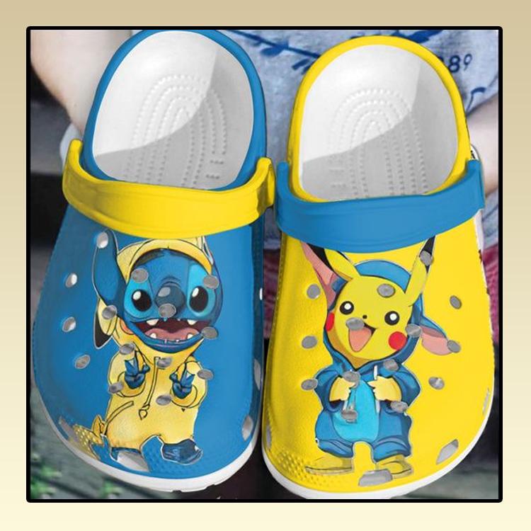 Baby Stitch and Pikachu crocs clog crocband3