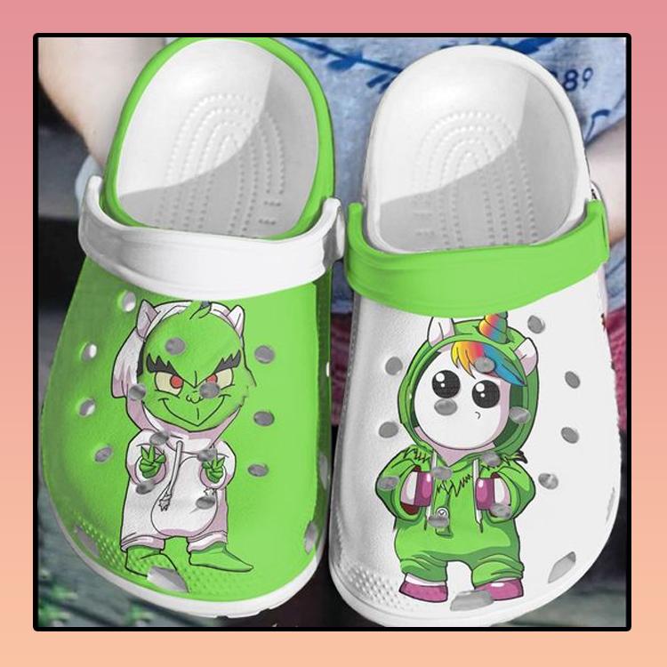 Baby Stitch and unicorn crocs clog crocband2