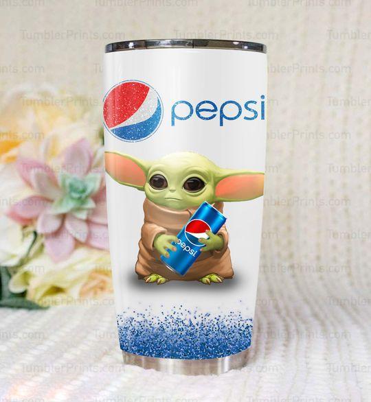 Baby Yoda pepsi tumbler
